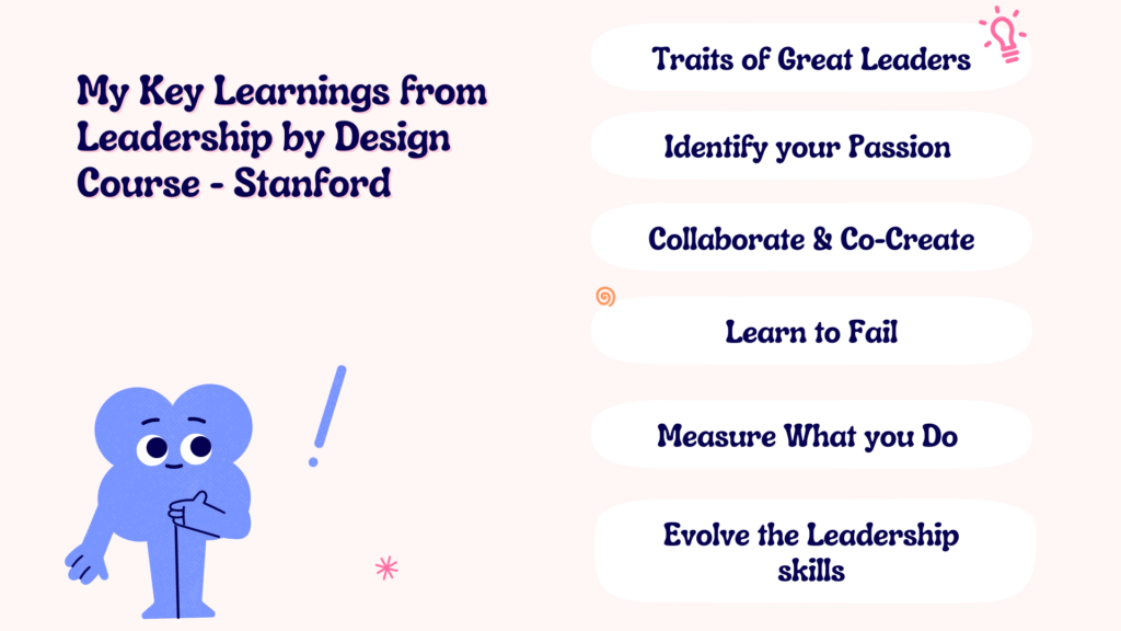 Key learnings from Leadership by Design Course